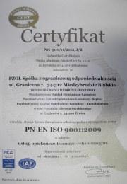 Certyfikat ISO 2013