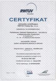 Certyfikat 2003