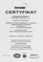 Certyfikat 2006