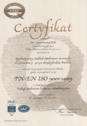 Certyfikat 2009